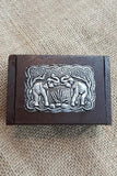 Handmade Wooden Boxes with Elephant Design
