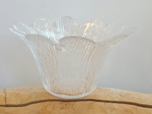 Gifts - Set Of 2 Retro Glass Flower Bowls