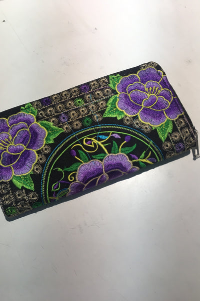Andrea Embroidered Wallet