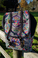 Large Embroidered Backpack