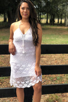 Crochet Tie Up Dress