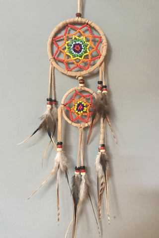 Double-Layered Beaded Dreamcatcher