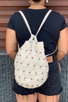 Beaded Cotton Bag