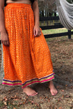 Indian Ancient Maxi Skirt