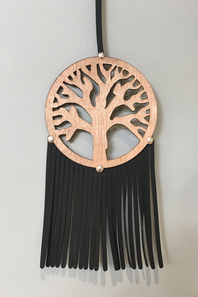 Wooden Leather Dreamcatcher