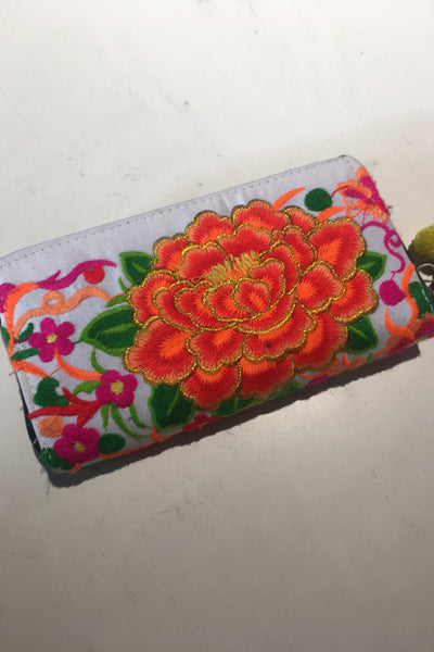 Beverly Embroidered Wallet