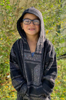 Kids Baja Hoodies - Black/Grey Mix