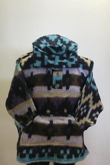 Brushed Baja Hoodie - Multi Blues