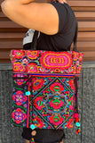 Large embroidered hand bag