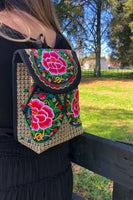 Mini Embroidered backpack