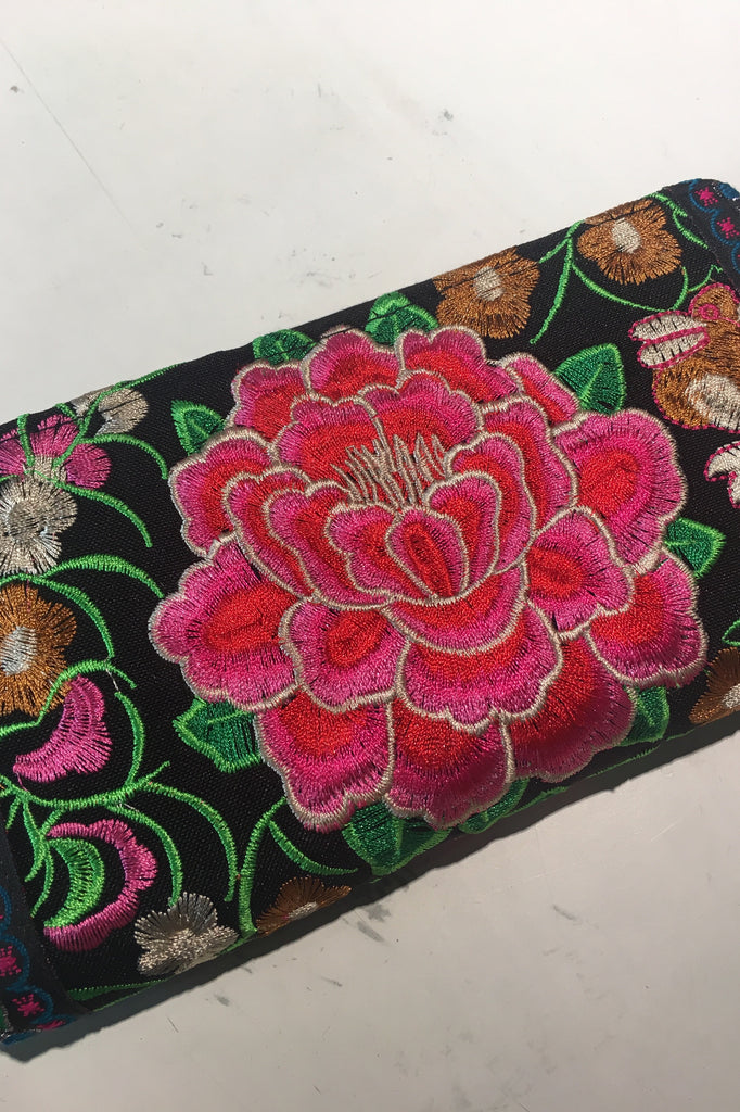Kelly Embroidered Wallet