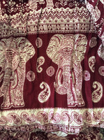 Paisley Elephant Drawstring Pants