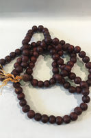 Natural Wooden Beaded Necklace-Large