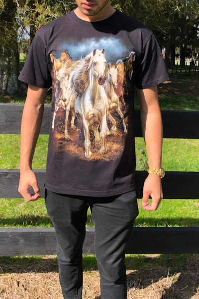 Animal Tshirt - Galloping Horses