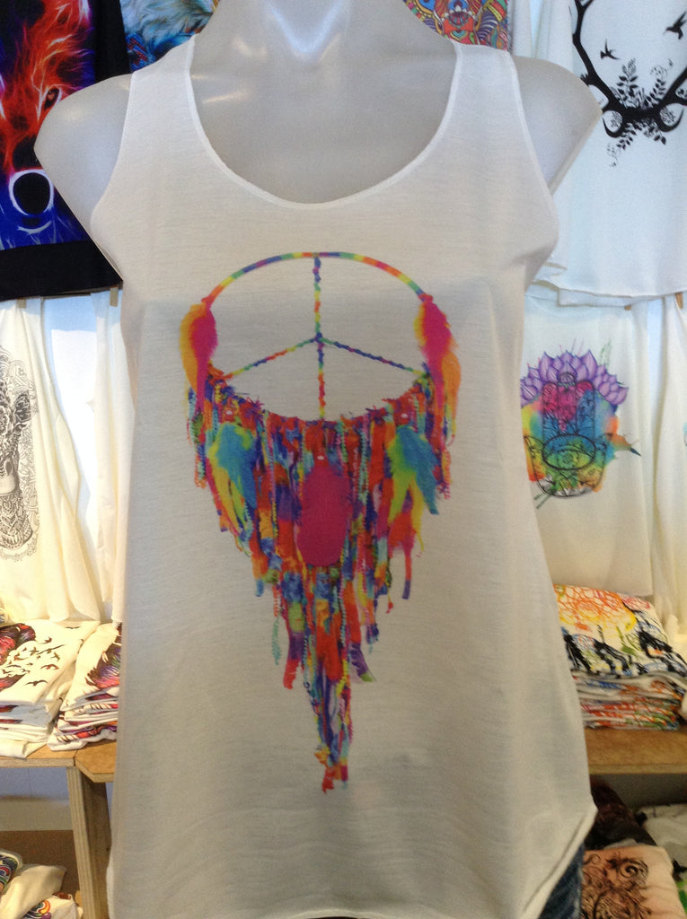 Top - Graphic Singlet - Dreamcatcher Peace