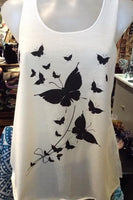 Graphic Singlet - Fly Away Butterfly