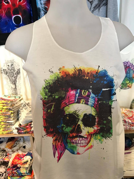 Top - Graphic Singlet - Hendrix Skull