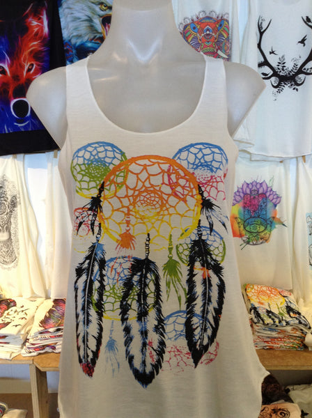 Top - Graphic Singlet - Multi Dreamcatcher