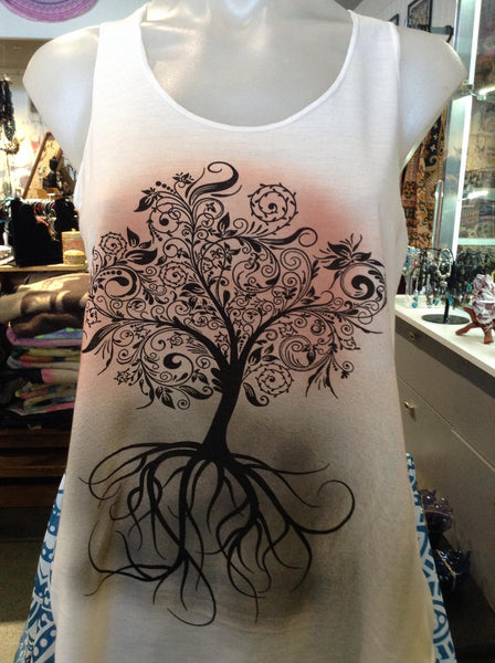 Top - Graphic Singlet - Roots
