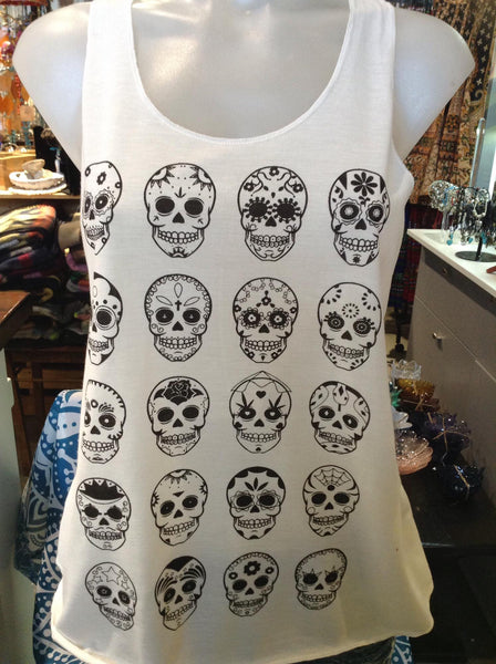 Top - Graphic Singlet - Skull Lineup