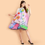 Pashma White Multi color Floral Kaftan for fresh summer fashion