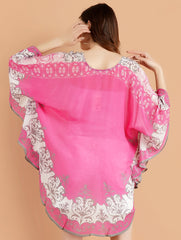 Pashma Smart Pink short Kaftan for fresh summer fashion