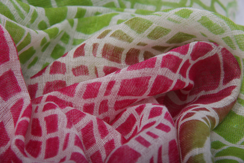 Pashma Shaded Abstract printed scarf crafted in Silk Linen