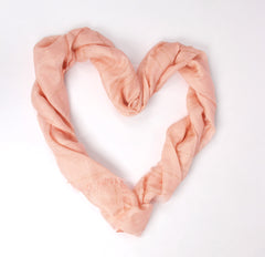 Pashma Peach Zari scarf crafted in Silk Linen