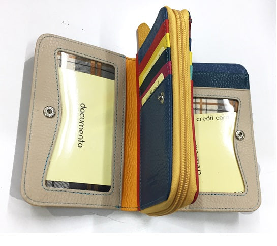 Pashma An exotic yellow with a chic form Italian Leather Wallet
