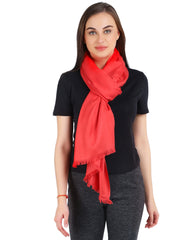 Pashma Red Stole crafted in Modal Silk Wool Cashmere