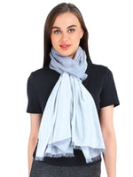 Pashma Grey stole crafted in Silk Cotton