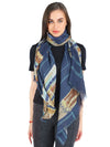 Pashma Navy Stole Crafted in Silk Cashmere Crepe