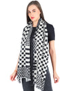 Pashma Big Small Plaid scarf crafted in Silk Wool Twill