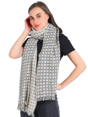 Pashma Melange Floating Basket weave scarf crafted in Pure Cashmere