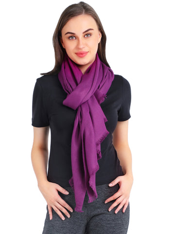Pashma Deep Purple Stole crafted in Modal Silk Wool Cashmere