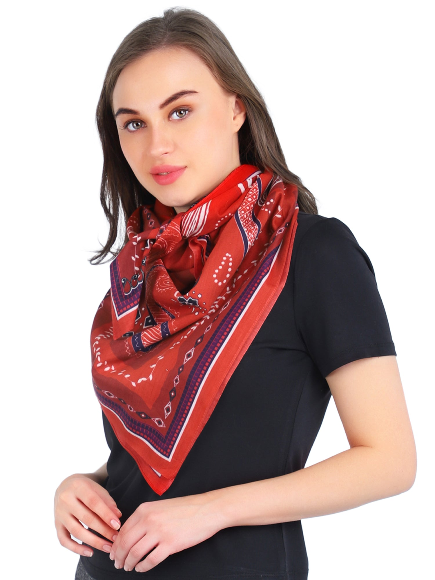 Pashma Silk Cotton Printed Scarf