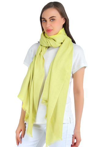 Pashma Lime Yellow Stole crafted in Modal Silk Wool Cashmere