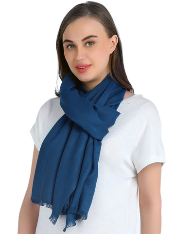 Pashma Royal Blue Stole crafted in Modal Silk Wool Cashmere