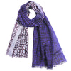 Pashma Shaded Indigo Scarf crafted Silk Wool