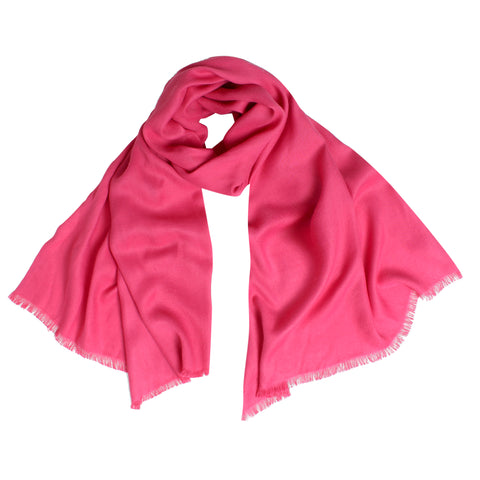 Pashma Deep Pink Stole crafted in Modal Silk Wool Cashmere