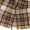 Pashma Brown Plaid Scarf crafted in Silk Wool Cashmere