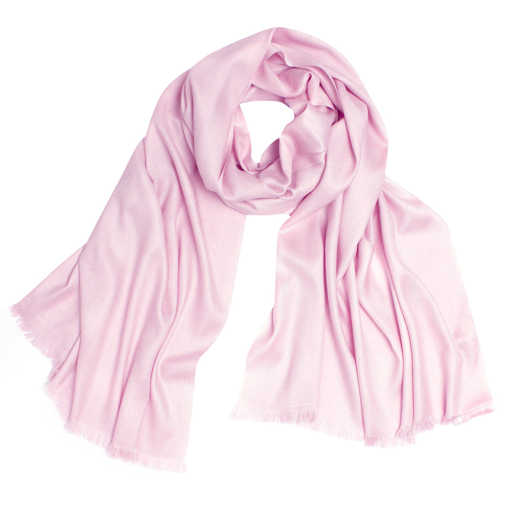 Pashma Pink Stole crafted in Modal Silk Wool Cashmere