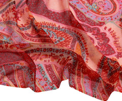 Pashma Paisley printed scarf crafted in Silk Cashmere Kashgar