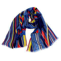 Pashma Multi Color Print scarf crafted in Silk Wool Cashmere