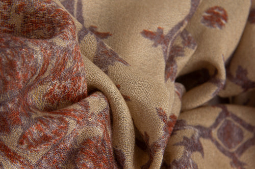 Pashma Textile Art printed scarf crafted in Silk Cashmere Crepe