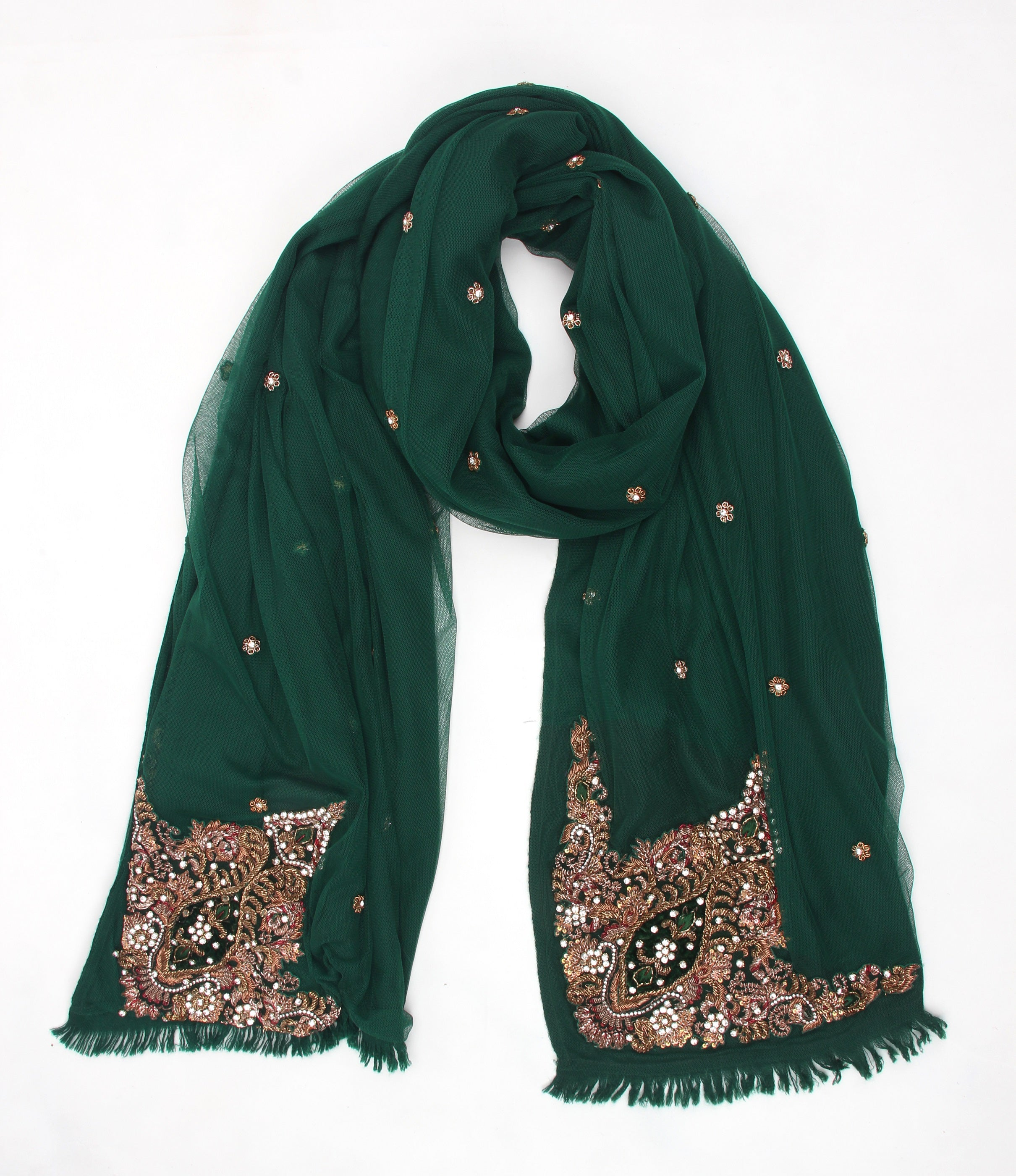 Pashma Sequenced layered scarf crafted in Cashmere