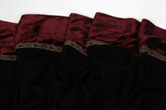 Pashma Embroidered Lace Scarf crafted in Modal Silk Viscose Velvet
