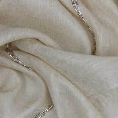 Pashma Sequenced scarf crafted in Linen Viscose