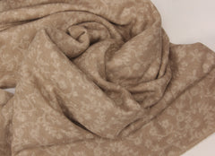 Pashma Dorukha Beige color Shawl crafted in Cashmere