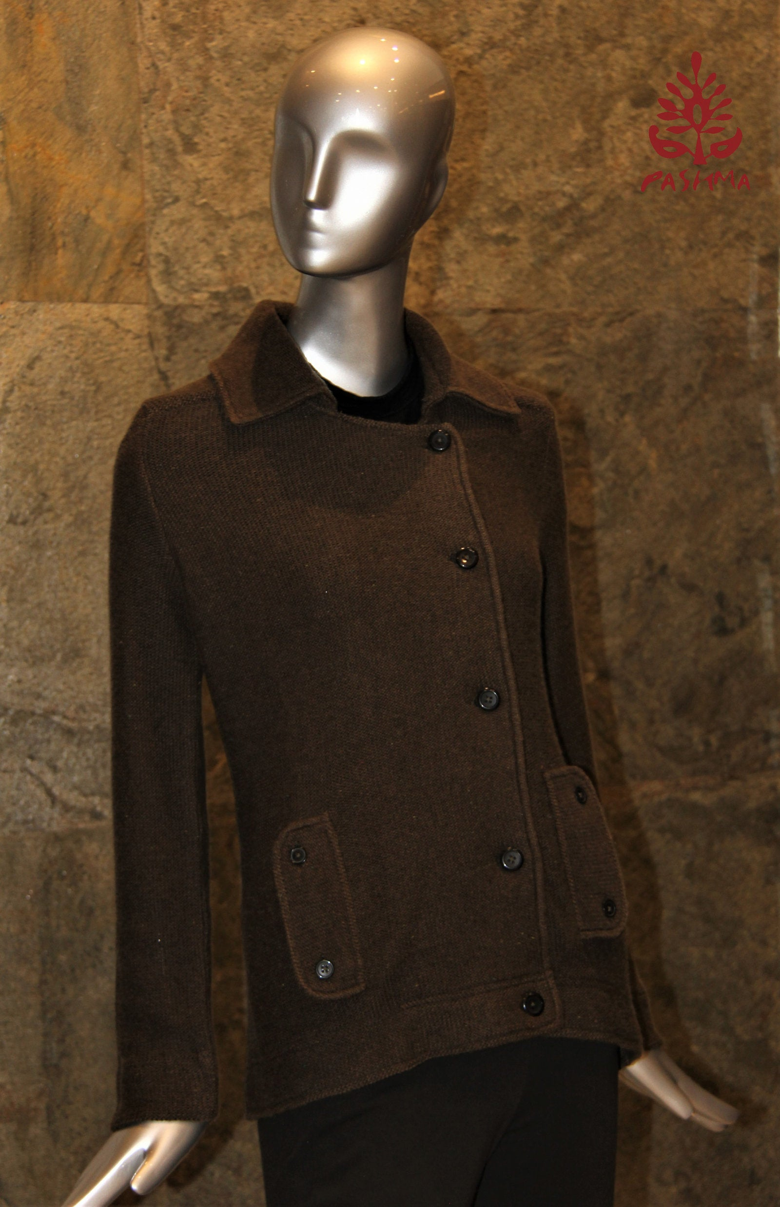 PASHMA REGENERATED DARK OLIVE JACKET